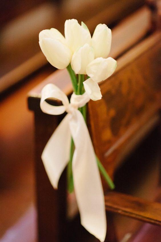 50 White Tulip Wedding Ideas for Spring Weddings   Church wedding ...