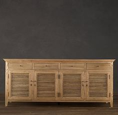 Pine Louvered Cabinet Doors | Bar Cabinet