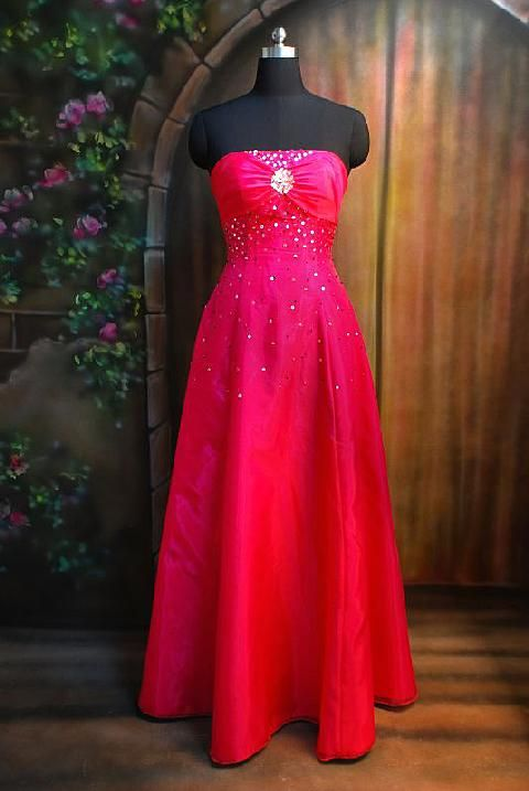 pictures of strapless hot pink prom dress | Madison Wi Wedding ...