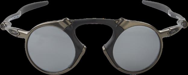 770986fea5 Oakley Madman Pewter Polarized Sunglasses Black Black Iridium Polarized