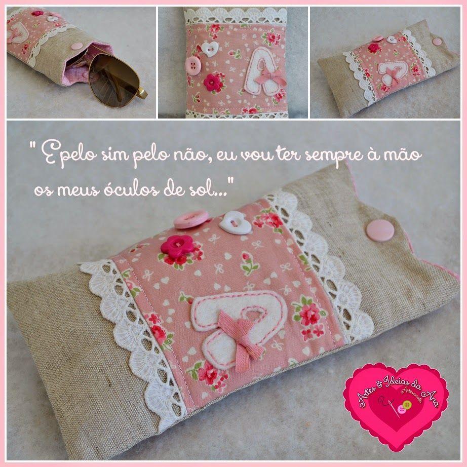 Bolsinha para óculos   Costuras . Sewing Stuff   Pinterest   Óculos ... 9de44927b3