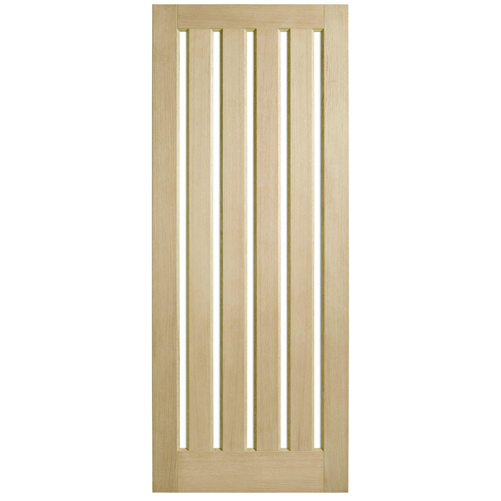Corinthian Doors 820 X 2040 X 40mm Blonde Oak Awo 5vg Clear Glass Entrance Door Installing French Doors Glass Entrance Doors Cavity Sliding Doors