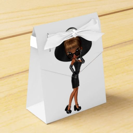 Cute African American Diva Favor Box