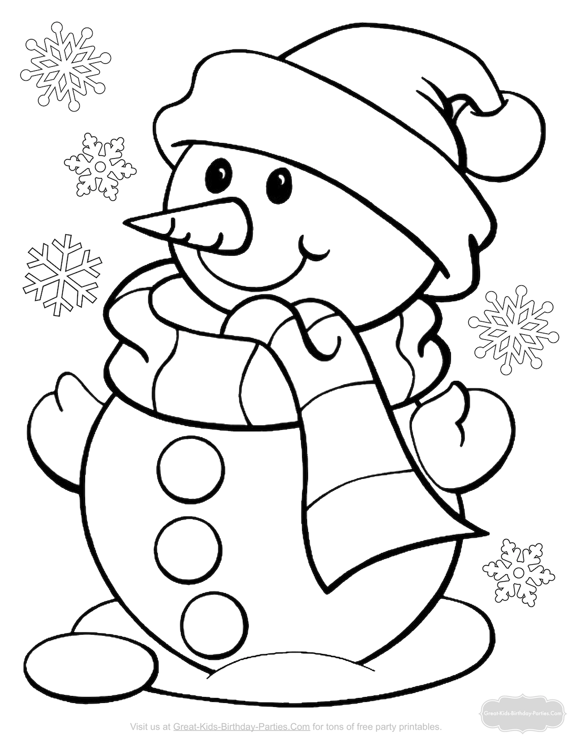 Coloriage °  Printable christmas coloring pages, Snowman coloring