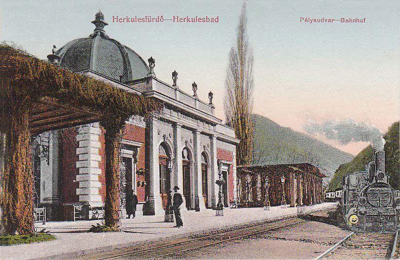 Băile Herculane - Gara - în anul 1912 | Romania travel, Romania, Travel