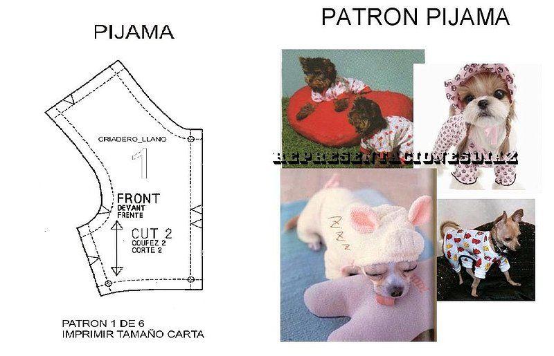 pijama para chihuahua | ropa Cachito | Pinterest | Patrones de ropa ...