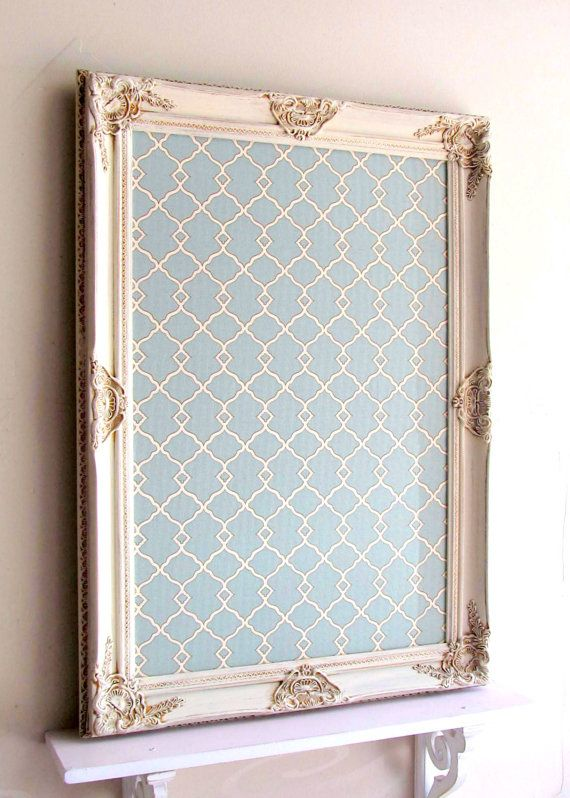 decorative magnet board framed bulletin board teal by shugabeelane 15900