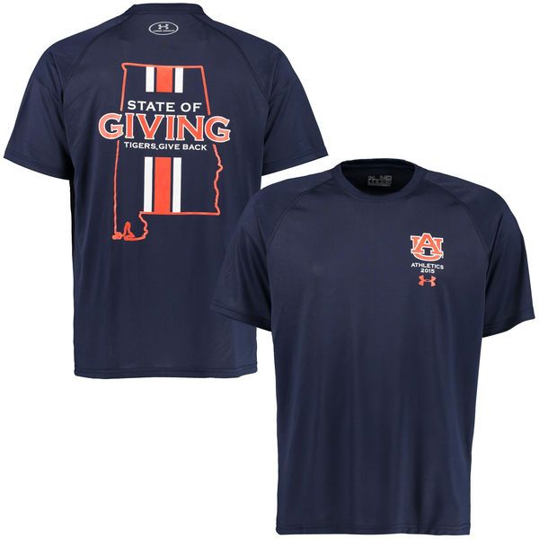 867b56c88cf Auburn Tigers Under Armour Tigers Give Back Tech T-Shirt - Navy ...