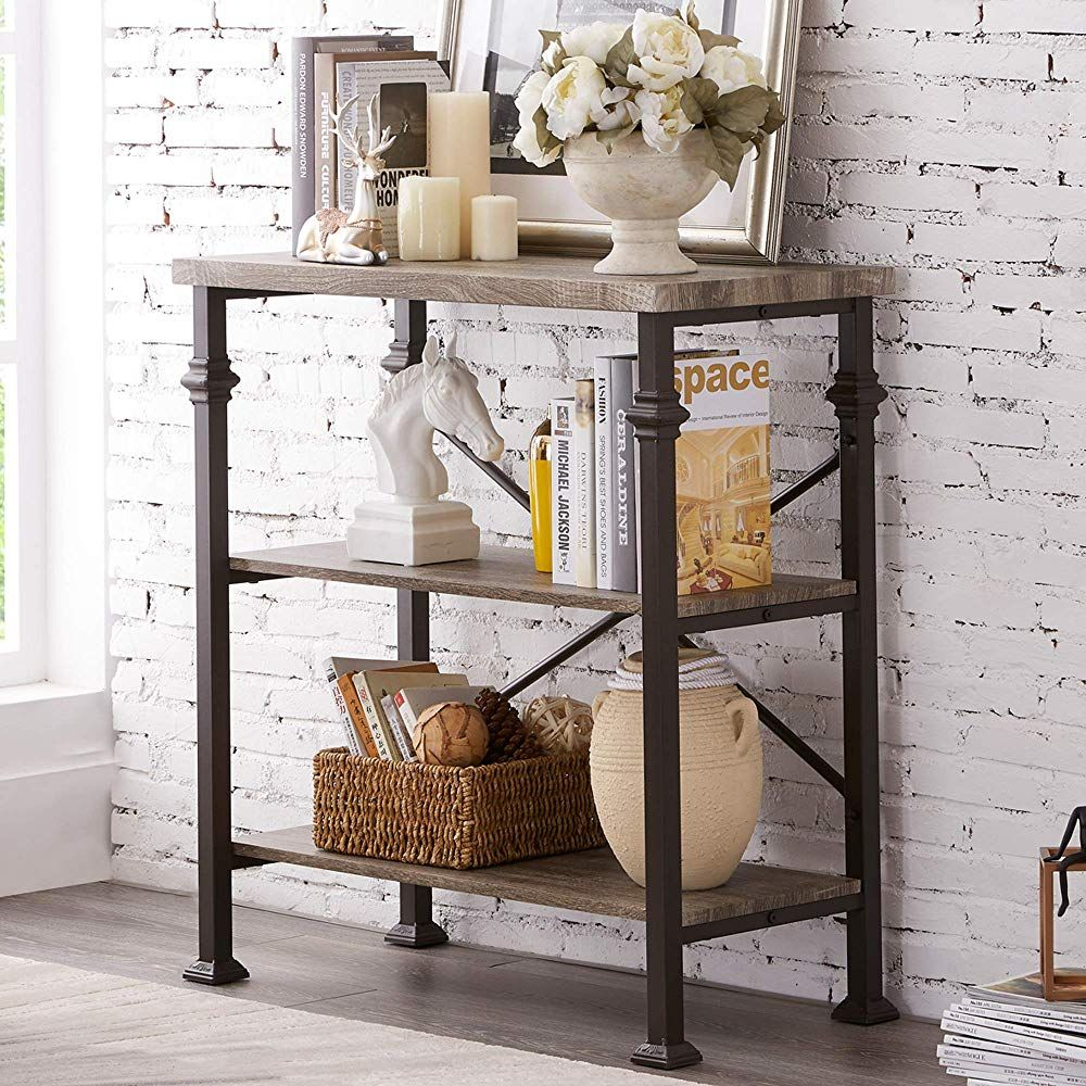 Hombazaar 3 Tier Bookshelf In 2020 Grey Furniture Living Room Furniture Living Room Furniture #standing #shelves #for #living #room