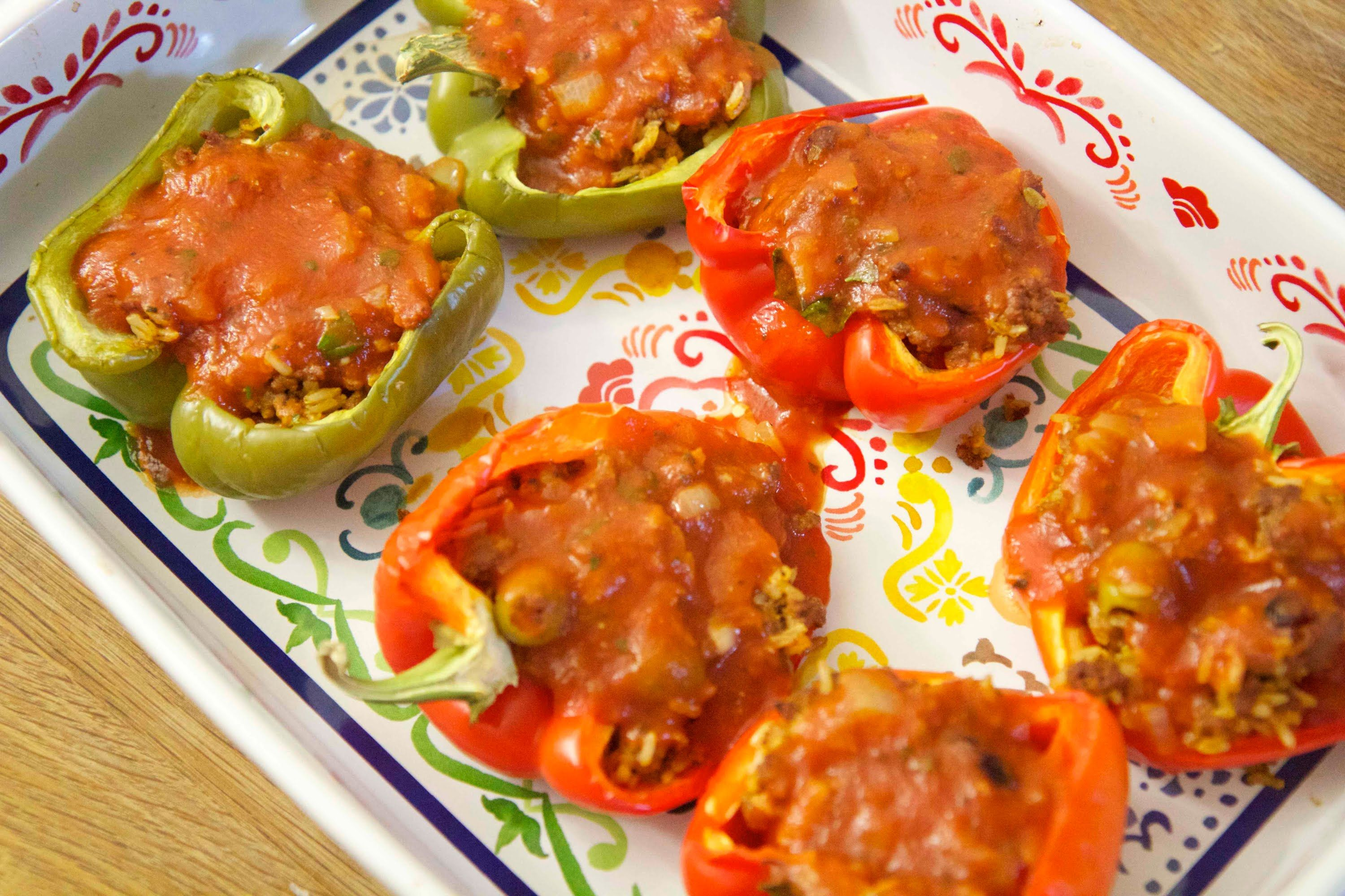 Cuban stuffed peppers cooked by julie episode 204 cooked by food cuban stuffed peppers forumfinder Image collections