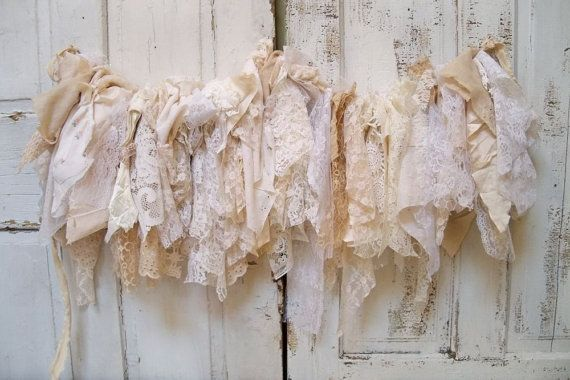 Shabby Chic Fabric Garland Wall Hanging By Anitasperodesign 125 00