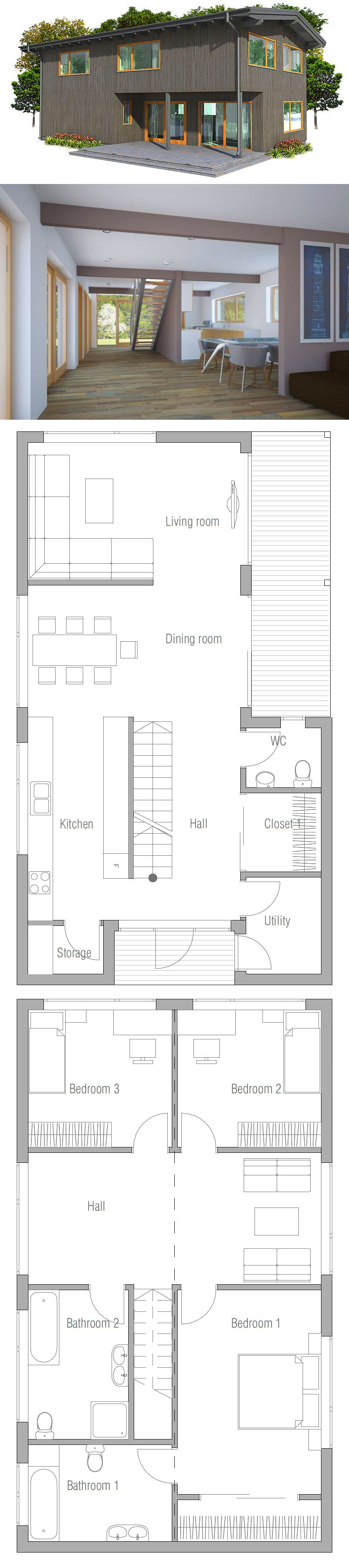 Small house plan small house plans pinterest haus for Haus bauen plan
