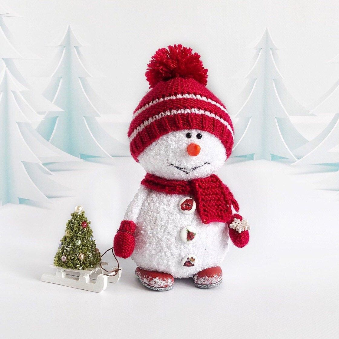 Amazon.com: Snowman Curtain Tie Back, Crochet Snowman, Christmas ... | 1120x1120