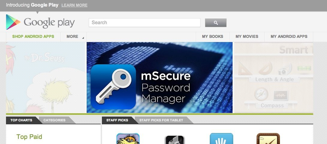 """Manage your secure passwords with """"Google Play"""" !! WooHooo!! Yay!"""