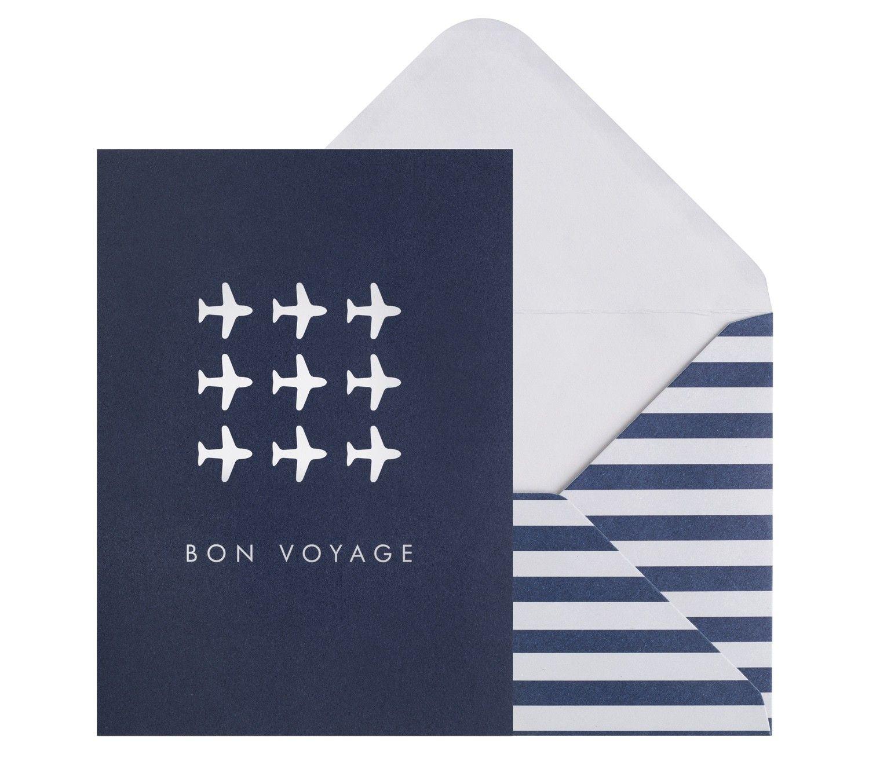 Greeting Card Bon Voyage Resfeber Stationery
