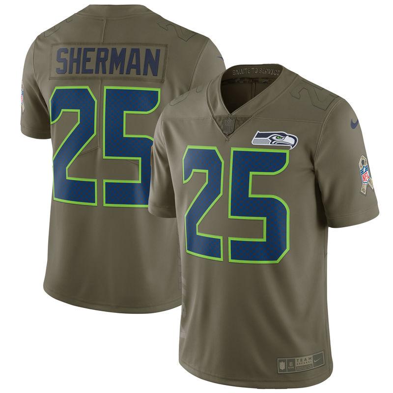 wholesale dealer 25e93 ee8ab Richard Sherman Seattle Seahawks Nike Salute To Service ...