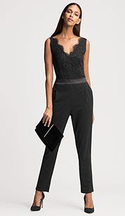 official photos e8c51 0649a Jumpsuit in schwarz | Mode in 2019 | Sommermode, Wolle ...
