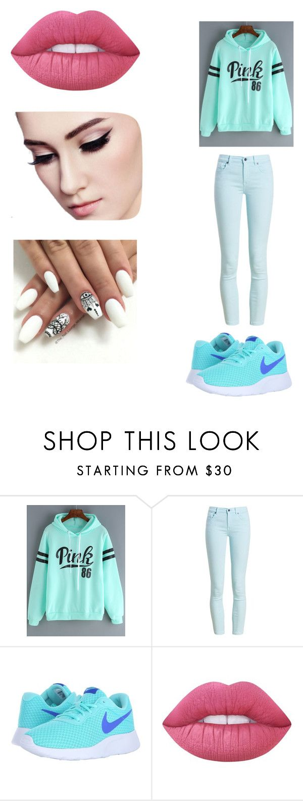 """""""Sin título #5"""" by shopia-986 on Polyvore featuring moda, Barbour, NIKE y Lime Crime"""