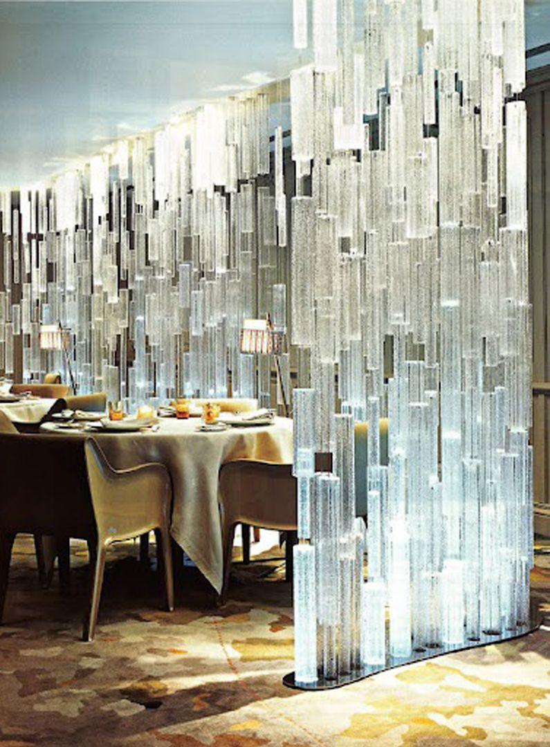 Restaurant Screen Crystal Confero Dezso Room Divider
