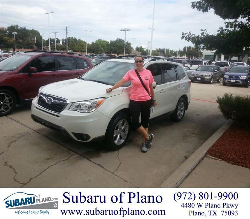 Congratulations Jennifer On Your Subaru Forester From Lou Colvin At Subaru Of Plano Subaru Congratulations Plano