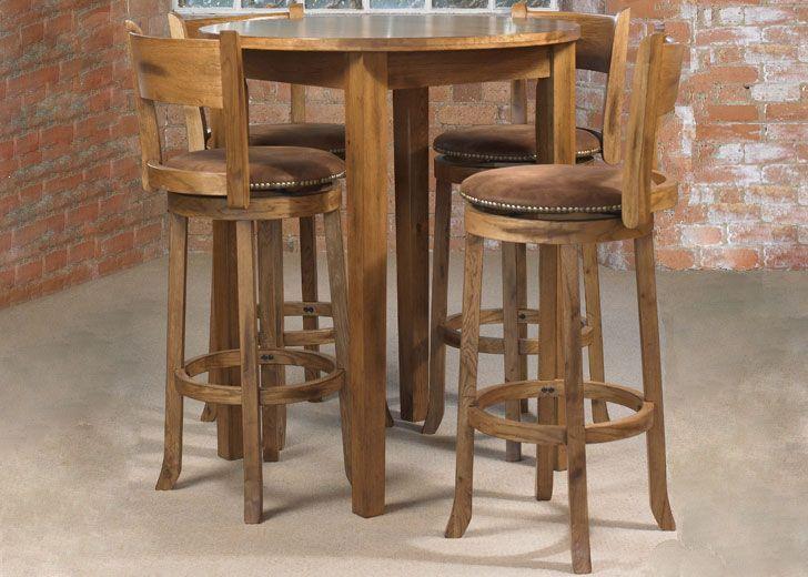 Cordoba Round Bar Table and Four Cordoba Bar Stools