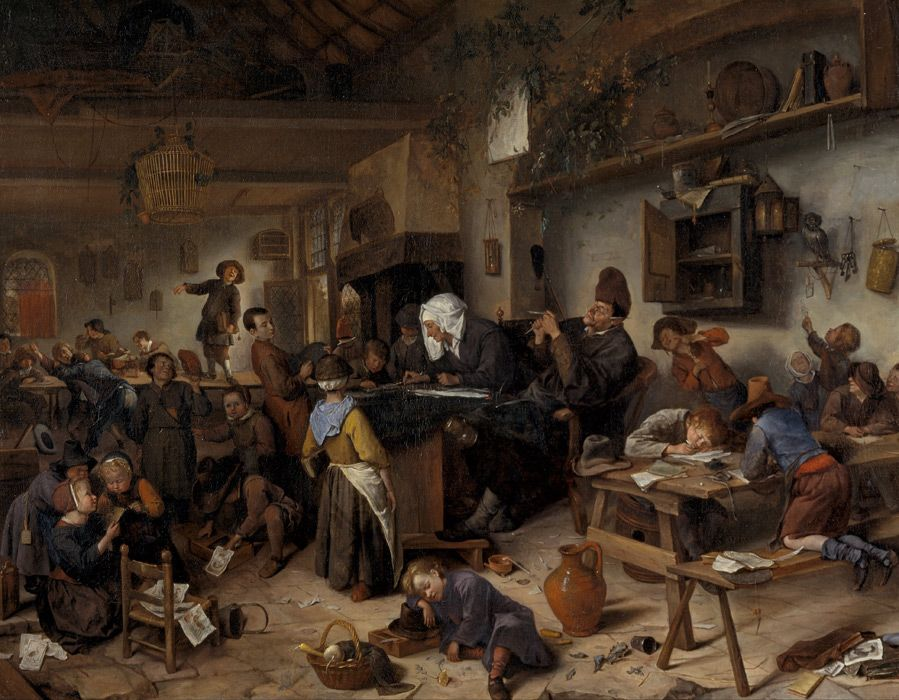 Jan Steen: de dorpsschool. ca. 1668-1672. Scottish National Gallery ...