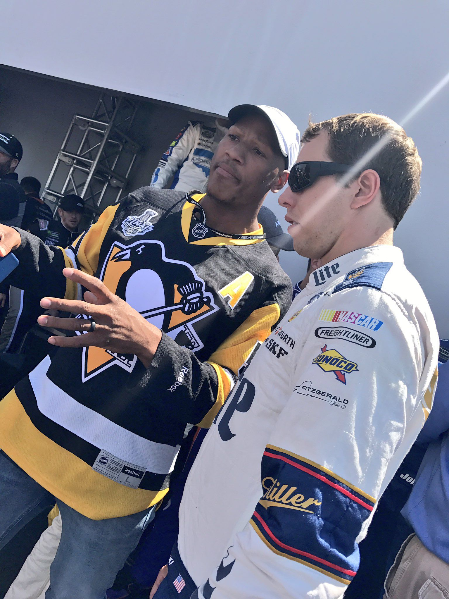 """NASCAR on Twitter: """".@keselowski chats with @RyanShazier of the Pittsburgh @Steelers. https://t.co/0NOKyjNOOD"""""""