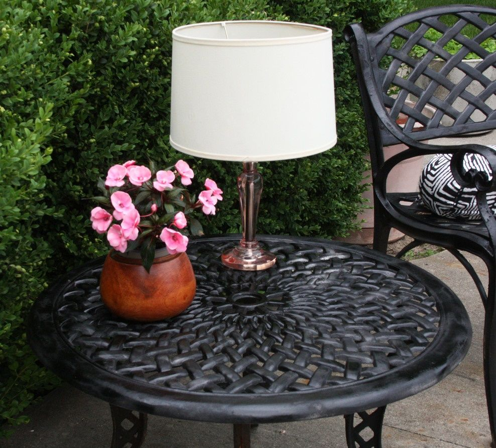 Outdoor Table Lamps Offer Your Abode A Makeover With New Home Decor Outdoor Table Lamps Diy Patio Table Diy Outdoor Table