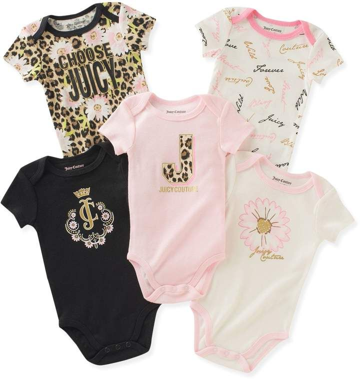 Juicy Couture Logo Print One Piece Couture Baby Clothes Juicy Couture Baby Cute Baby Girl Outfits