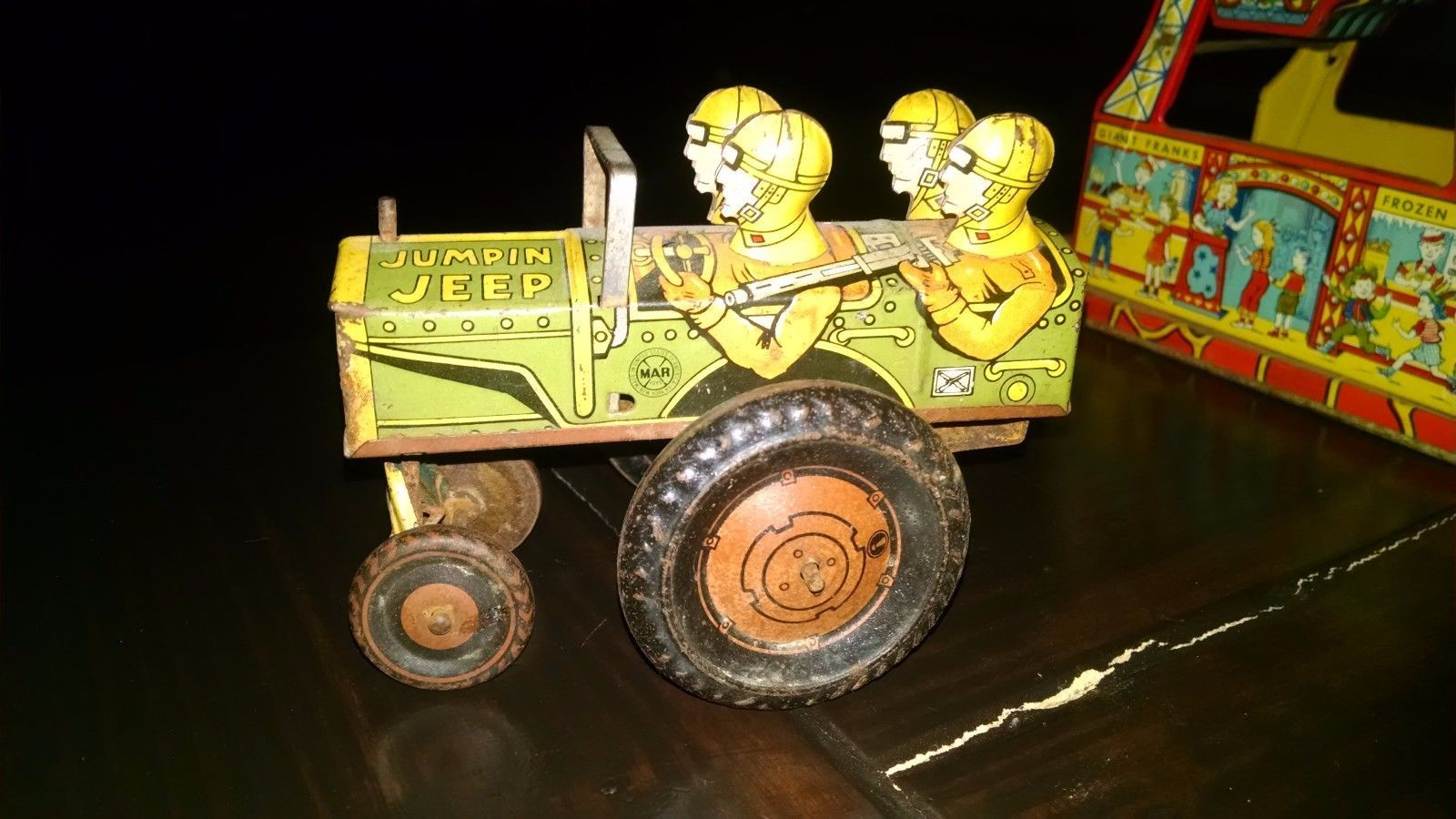 Jeep toys images  toys vintagetoys Jumpin Jeep  C Wind up Toy vintage  Vintage