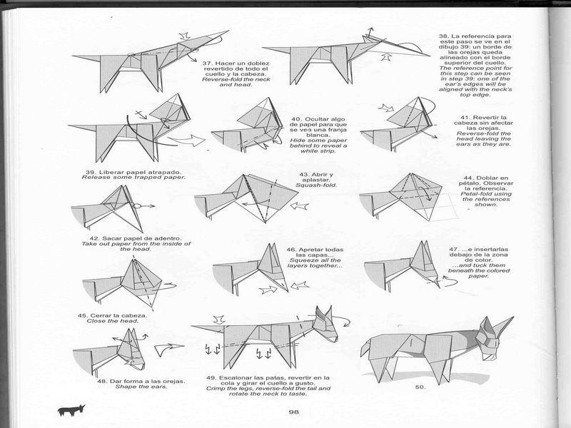 burro origami - Pesquisa Google