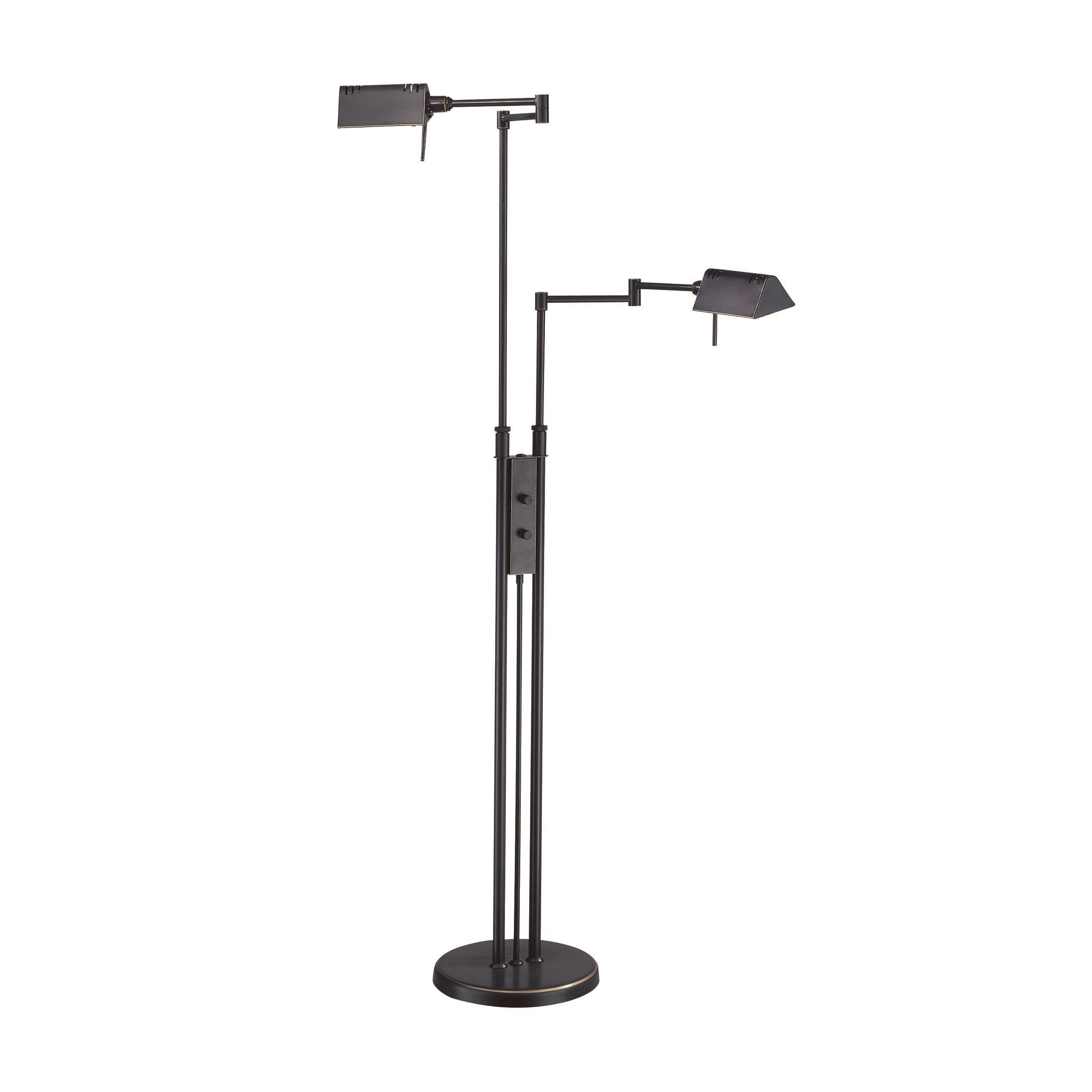 Lite source pharma light floor lamp dark bronze brown metal