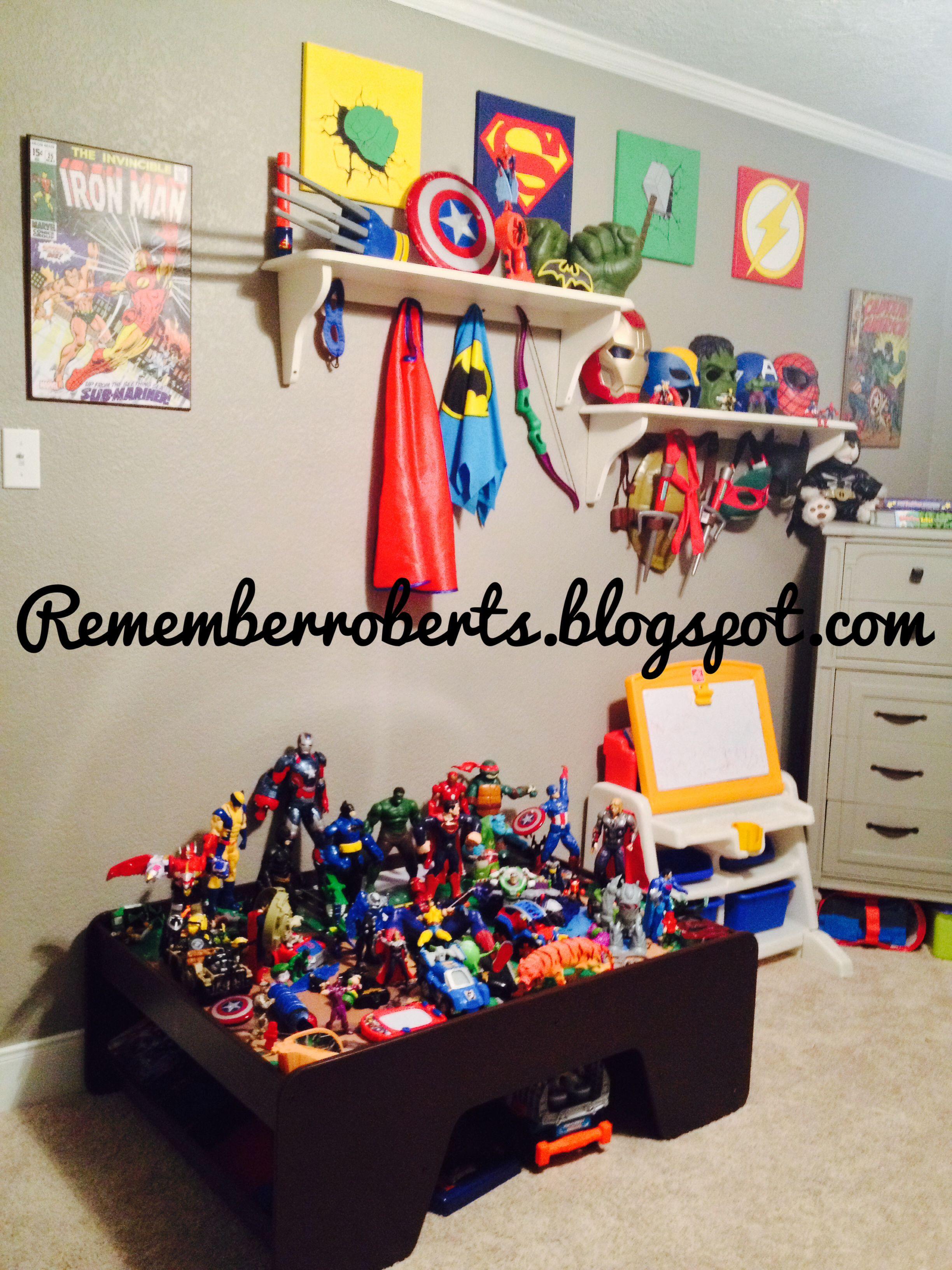 Superhero Boys Room Ultimate Super Hero Room Peytons Room Pinterest Room