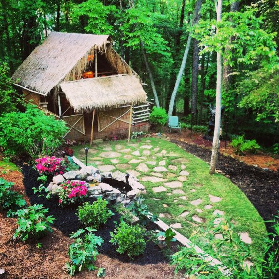 Pinterest Jungle Buildings: DIY Plans On How To Build Your Own Tiki Hut With Loft. Why