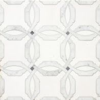 Coming Soon!!!    Delicate Gothic Design The Mystique collection, from Country Floors, draws upon history and tradition to project richness, opulence, and otherworldly elegance. The tiles in this collection, are reminiscent of a gothic Mediterranean designs. The Mystique Collection tiles ranges in shades of white, mute grey and silver, featuring different geometric patterns. The tiles are available in the standard eight by eight (8 x 8) size. Tile feature: Isabella