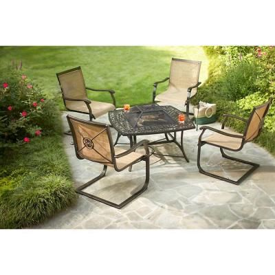 Martha Stewart Living Solana Bay 5 Piece Patio Fire Pit Set Asc Set 1148 5 At The Home Depot Fire Pit Sets Patio Fire Pit Patio