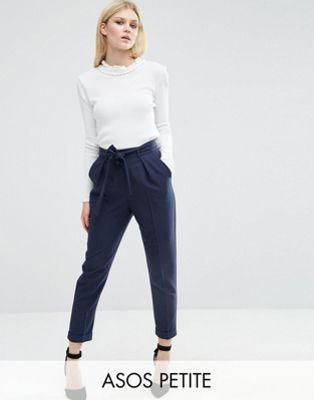 a1b250a3ed80 PETITE - Pantalon carotte tissé avec ceinture obi   pantalon ...
