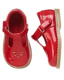 Red shoes, Girls shoes, Baby shoes