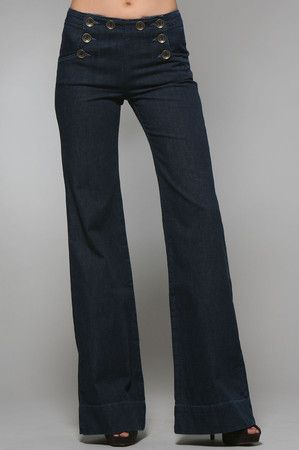 sailor pants! i will own a pair of these one day. Jeans Palazzo ebd7bd1a245