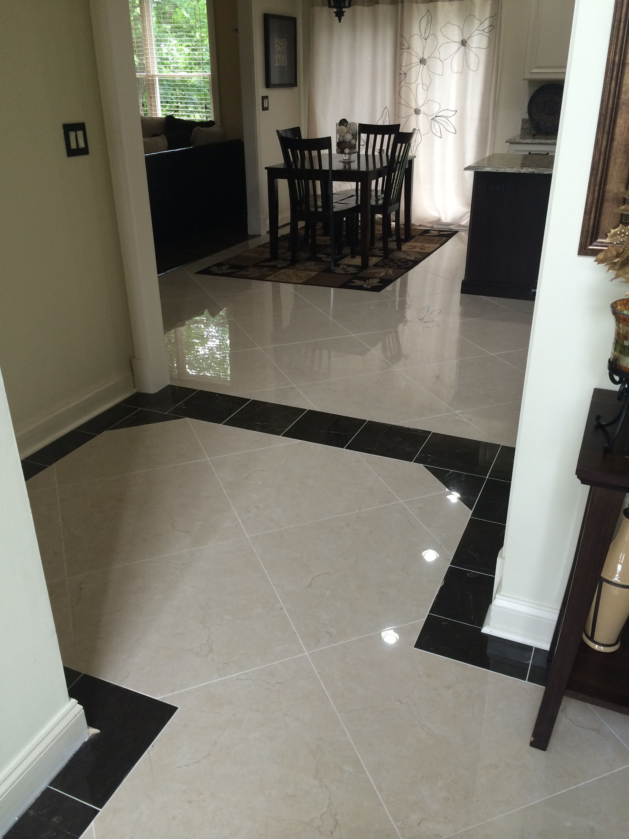 New Tile Crema Marfil 24x24 With A Border Of St Laurent Oriental