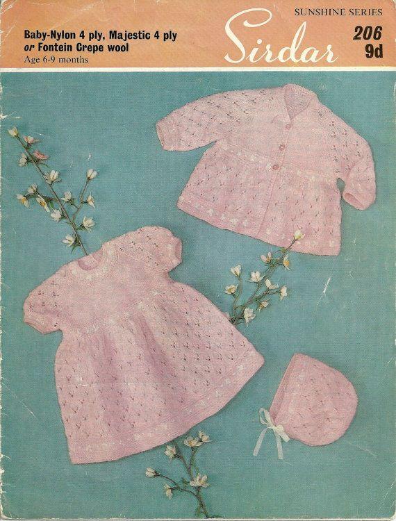594a42c8ff58 Sirdar Sunshine 206 Vintage PDF Knitting by vintagemadamedefarge ...