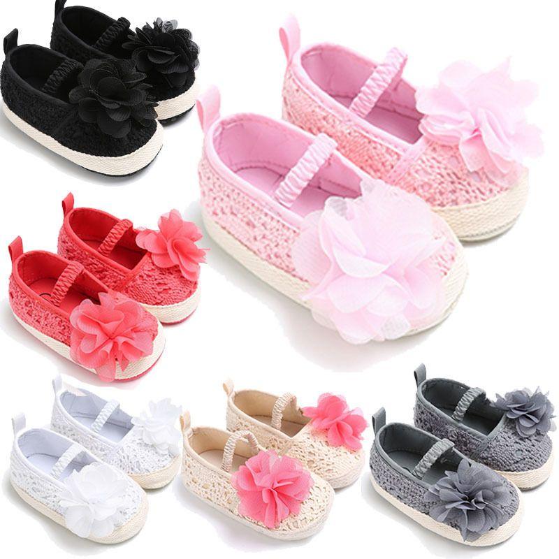 Toddler Baby Shoes Newborn Infant Soft Soled Princess Crib Shoes Prewalker 0-18M