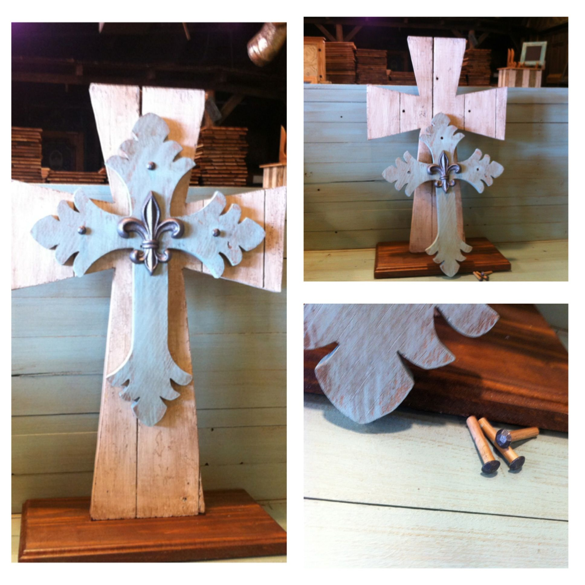 Unity Cross Of Antique Wood Option To Use In Place Candle