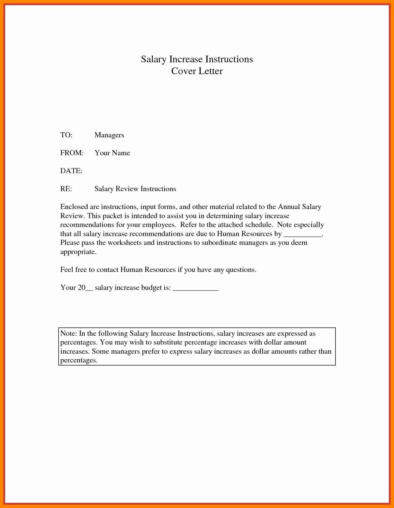 Salary Increase Letter Template Ideas Lovely Samplessking