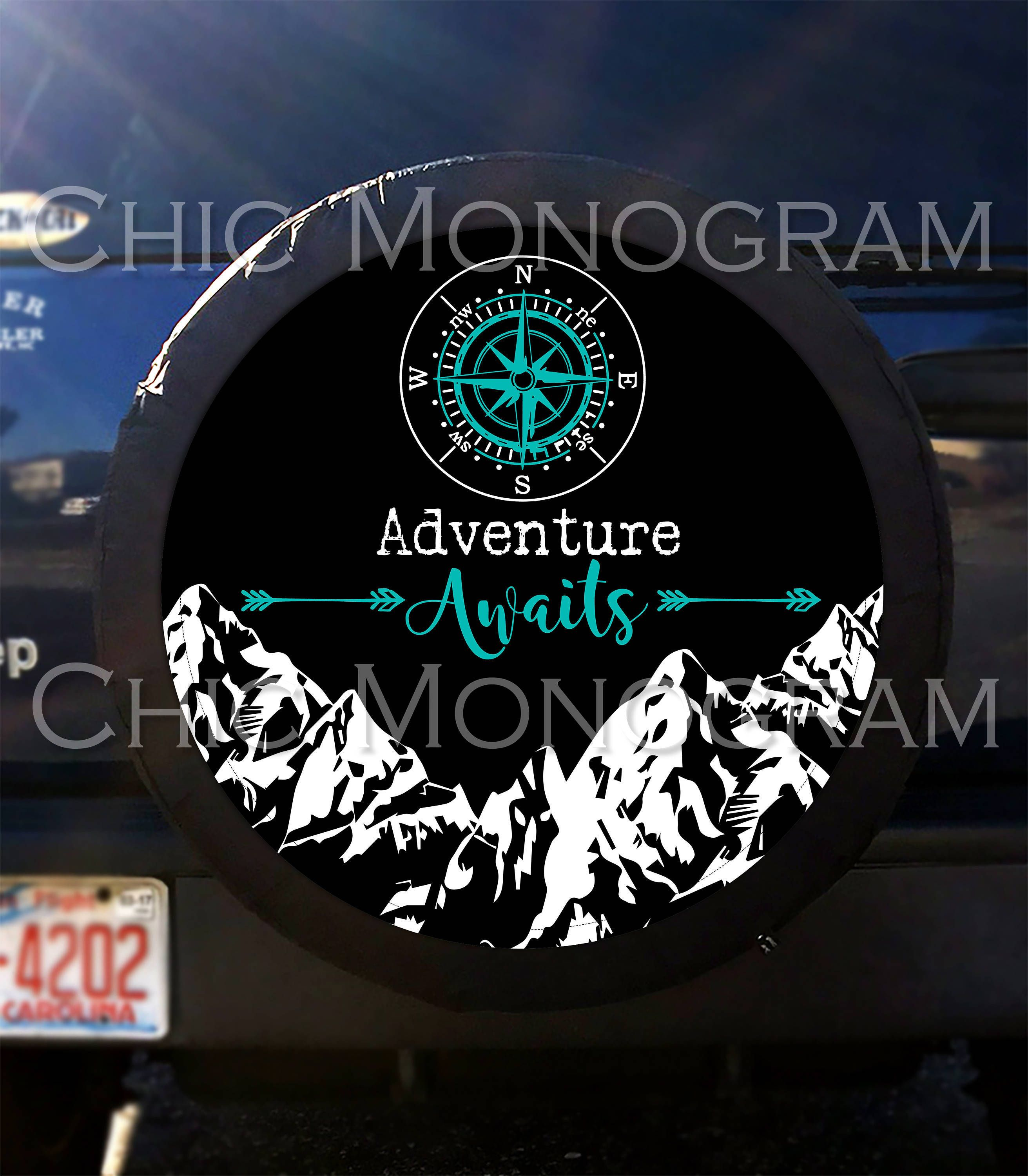 Pin By Chic Monogram On Car Accessories Jeep Tire Cover Jeep