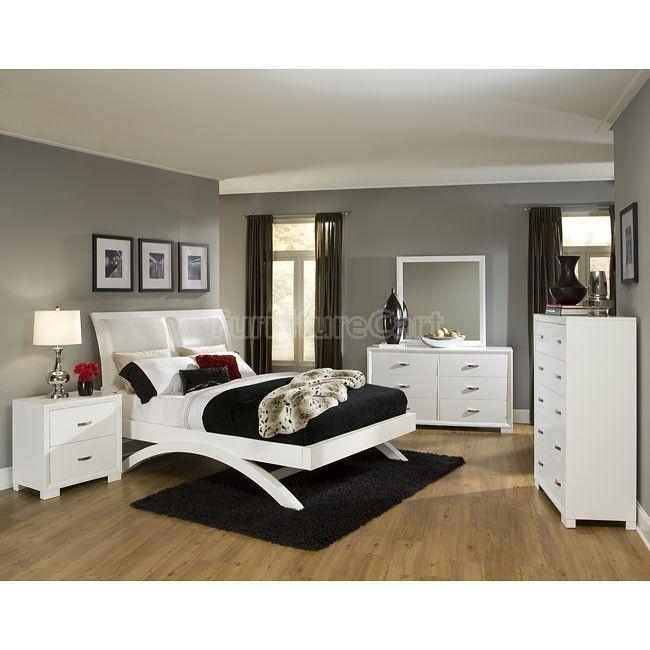 Astrid White Platform Bedroom Set in 2018 Bedroom design