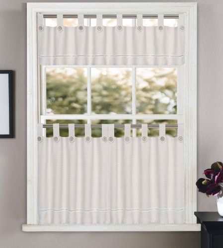 Saybrook Kitchen Curtain Valance By Lorraine 11 99 Natural Look Valance Tab Top Textural Woven Valance Is Enhanced W Curtain Styles Curtains House Styles