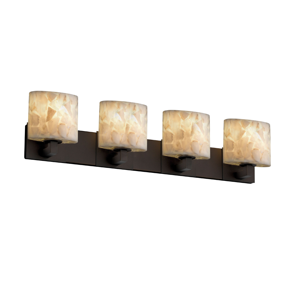 Photo of Justice Design Group Alabaster Rocks! Modular Four Light Brushed Nickel Bath Fixture Alr 8924 30 Nckl | Bellacor