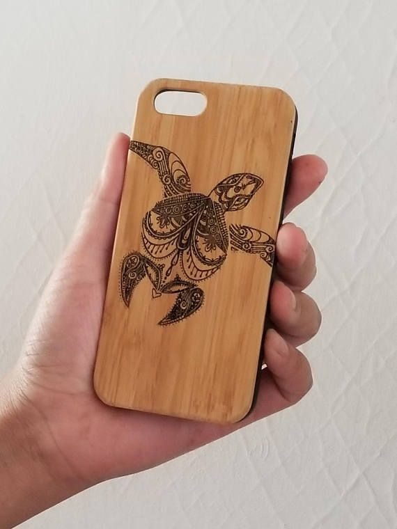 Sea Turtle bamboo wood iPhone case for iPhone 6, iPhone 6s, iPhone 6 plus, iPhone 7, iPhone 7 plus, iPhone 8, iPhone 8 plus, iPhone X