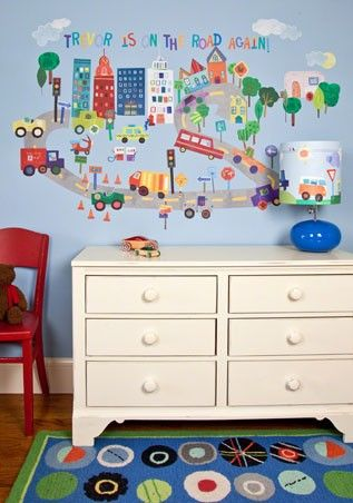 On The Road Again Repositionable Fabric Wall Decals For Children By Jill Mcdonald For Oopsy Daisy Fine Art For Ki Kids Wall Decals Wall Stickers Wall Decals